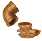 Brass Threaded Tees Elbows